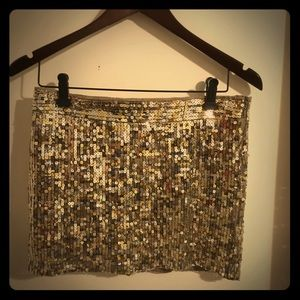 Abercrombie & Fitch gold/silver sequin mini skirt
